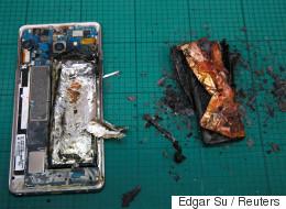 Prenez garde, ce téléphone intelligent de Samsung Galaxy explose et prend feu