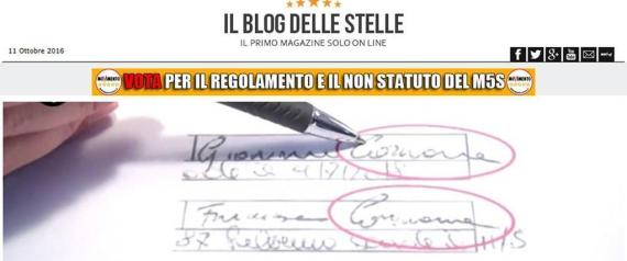 FIRME M5S PALERMO