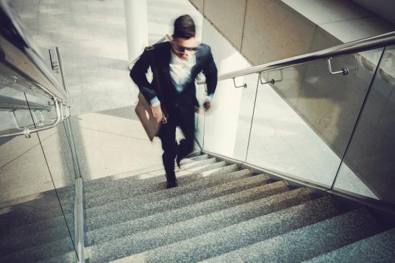 run stairs