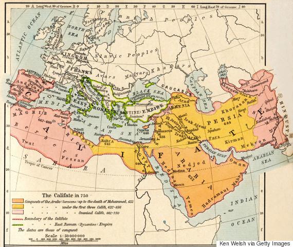 umayyad caliphate map