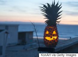 Les ananas décorés, la nouvelle tendance de l'Halloween