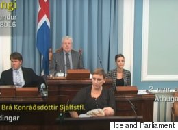 Badass Icelandic Politician Breastfeeds While Giving Speech