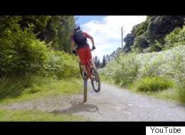 이 남자의 자전거 스턴트는 믿을 수 없이 굉장하다 (영상)