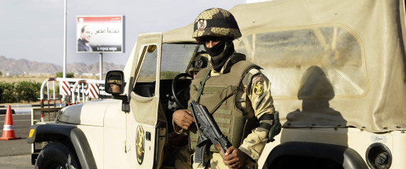 EGYPTIAN SECURITY FORCES IN SINAI