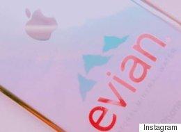 Les Japonais pimpent leur iPhone avec des étiquettes d'Évian