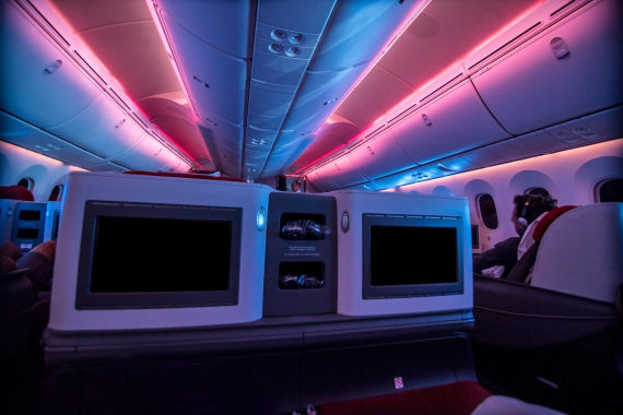 business class plane