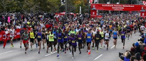 SCOTIABANK MARATHON STARTING LINE