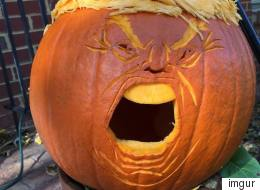 This Year's Terrifying Halloween Decoration: The 'Trumpkin'
