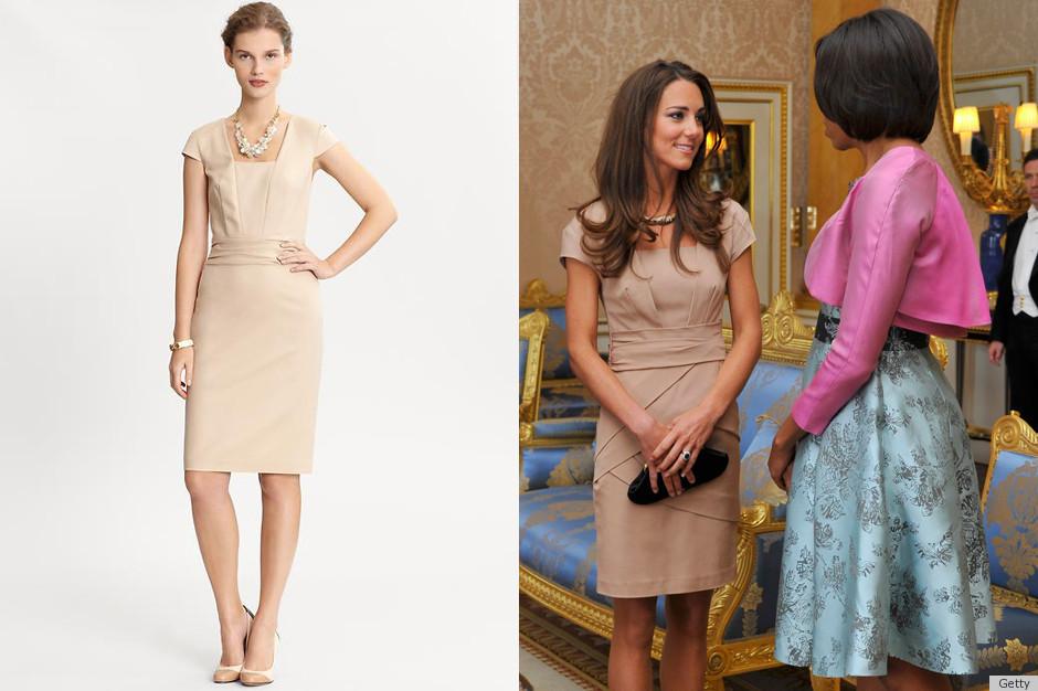 3d656d2a04 Banana Republic Kate Middleton Dress Inspired By Reiss Original (PHOTOS)