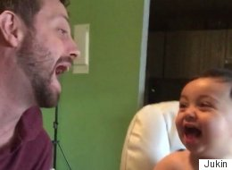 Dad Tries To Teach Baby Evil Laugh, Fails Adorably
