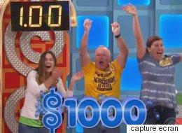 Trois participants «roulent» un 1,00$ à «The Price is Right»... et le public explose!
