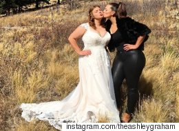 Ashley Graham Did The Unimaginable, Wore Black To Her Sis' Wedding
