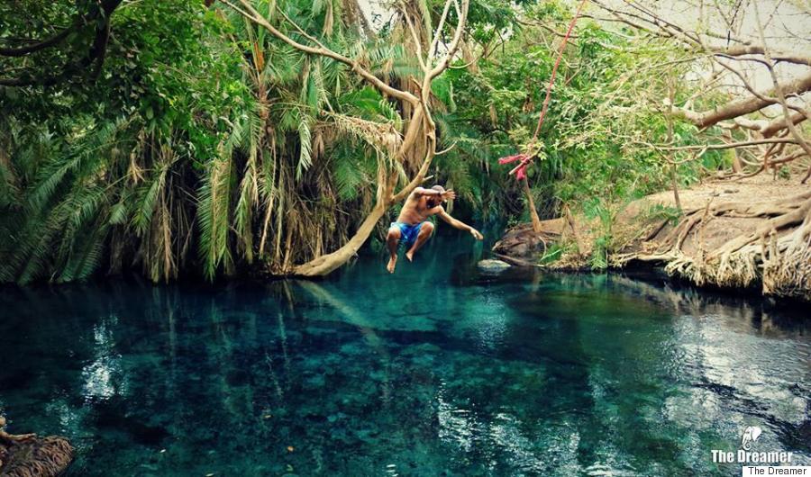 dreamer nature jump water
