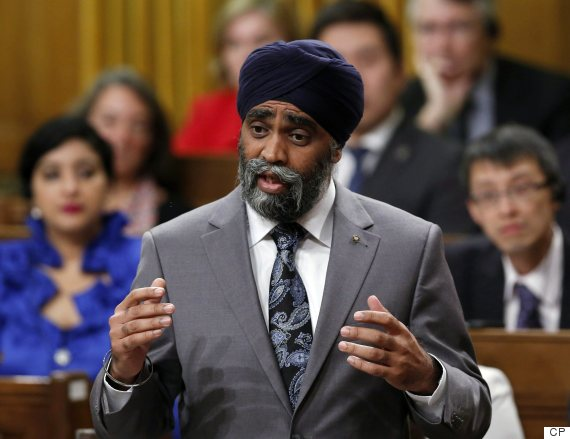 Harjit Sajjan stands in the House of Commons during Question Period Oct. 18 2016