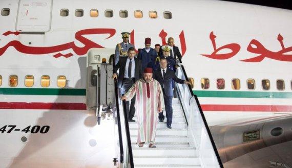 mohammed vi arrive au rwanda