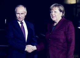 Putin in Berlin: Schon die Begrüßung zeigte, wie angespannt die Lage ist