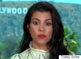 Kourtney Kardashian 'Freezes' On Live TV When Asked About Kim