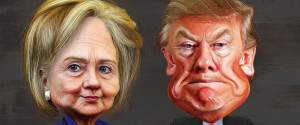 HILLARY TRUMP CARICATURES