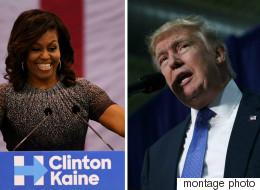 Clinton reprend la route, Trump attaque Michelle Obama