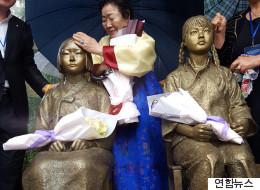 중국에 첫 위안부 소녀상이 세워졌다(화보)