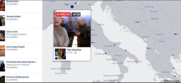 Ho passato un'ora a guardare l'Italia su Facebook live maps (e c'è di tutto)