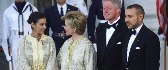 KING OF MOROCCO HILLARY