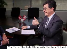 Stephen Colbert Flunks His Canadian Citizenship Interview. Badly.