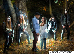 Black Metal Band Makes Epic Cameo In Couple's Engagement Photos