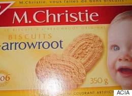 Rappel de biscuits de marque M. Christie