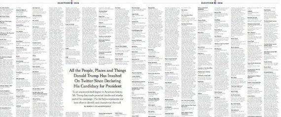 INSULTOS TRUMP NYT