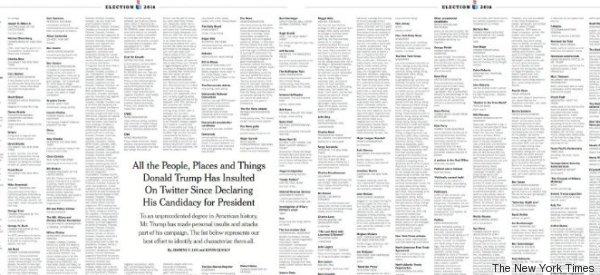 Estos son todos los insultos que Trump ha publicado en Twitter