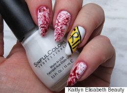 This Easy Crime Scene Nail Art Is Perfect For Halloween