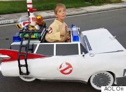Dad Transforms Son's Wheelchair Into Epic Ghostbusters Car