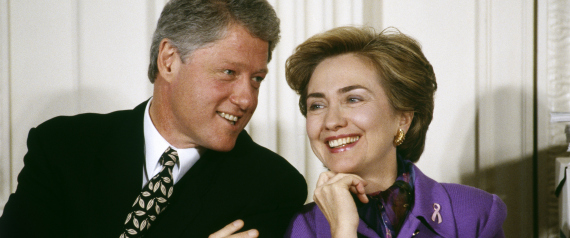 BILL CLINTON WITH HIS WIFE 1993