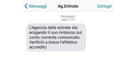 AGENZIA ENTRATE SMS