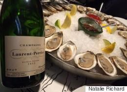 Huîtres et champagne au menu