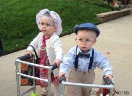 20 photos adorables et hilarantes de bambins déguisés en personnes âgées