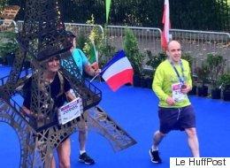 La Tour Eiffel a couru le marathon de Dublin