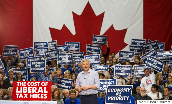stephen harper supporter signs