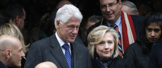 BILL CLINTON AND HIS WIFE
