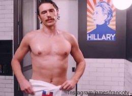 James Franco torse nu pour soutenir Hillary Clinton dans une drôle de pub (VIDÉO)