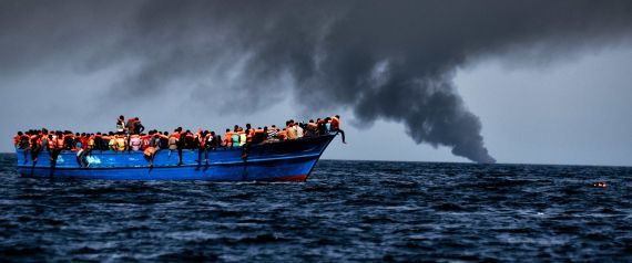 THE SINKING OF A REFUGEE