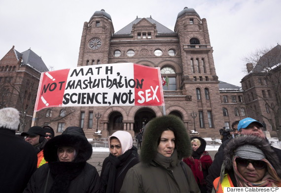 ontario sex ed protest