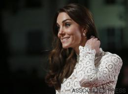 Le vent s'est amusé avec la robe de Kate Middleton