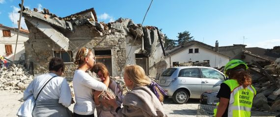 EARTHQUAKE ITALY CRYING