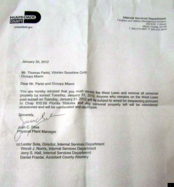 Apartment Eviction Notice Trouble at occupied apartment