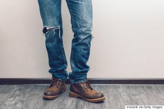 damaged jeans men