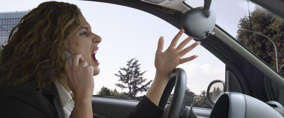 WOMAN ANGRY DRIVE
