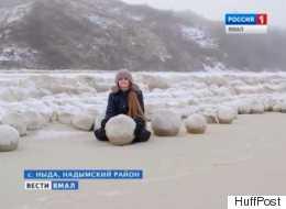 Des boules de neige géantes, de la taille d'un ballon de basket, sont apparues dans ce pays