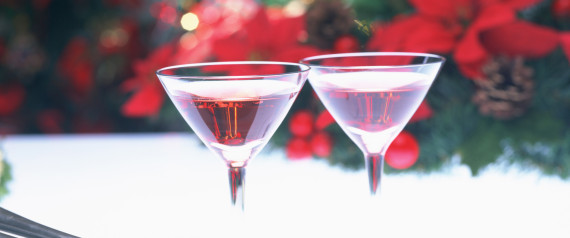 CHRISTMAS COCKTAIL GLASSES
